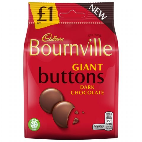 Bourneville Giant Dark Chocolate Buttons Cadbury 95g